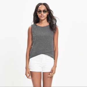 Madewell | Gray Striped Crossover Tank
